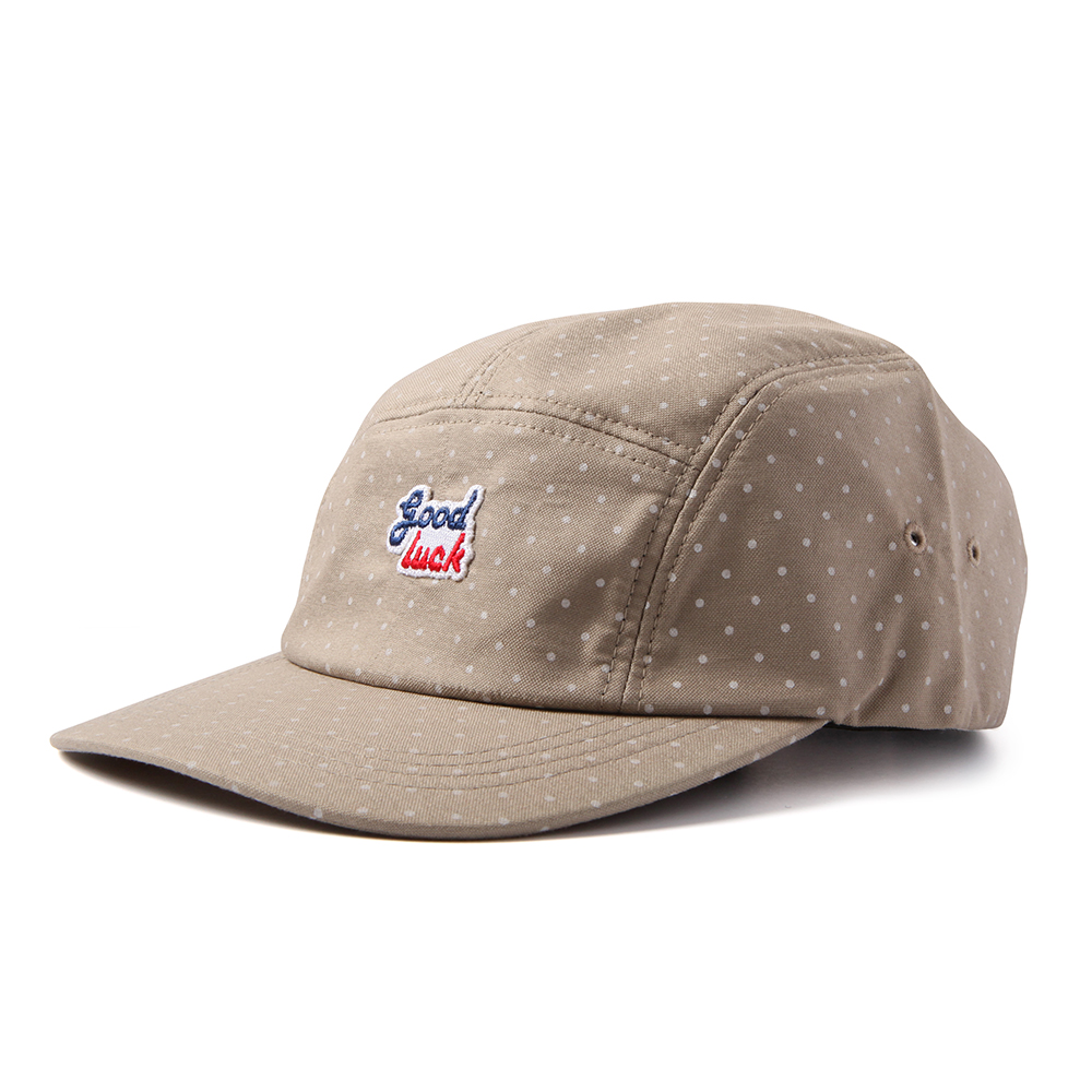 GOOD NIGHT & GOOD LUCK2 Colors Logo Camp Cap(Dot Beige)