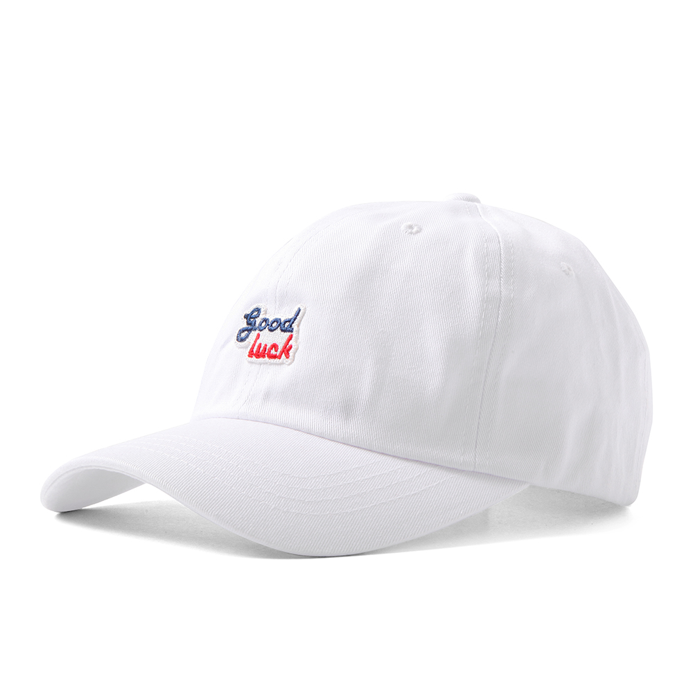 GOOD NIGHT & GOOD LUCK2 Colors Logo Cap(White)