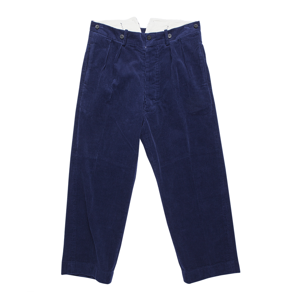 DOCUMENT50's Millitary Cord Trouser(Blue)