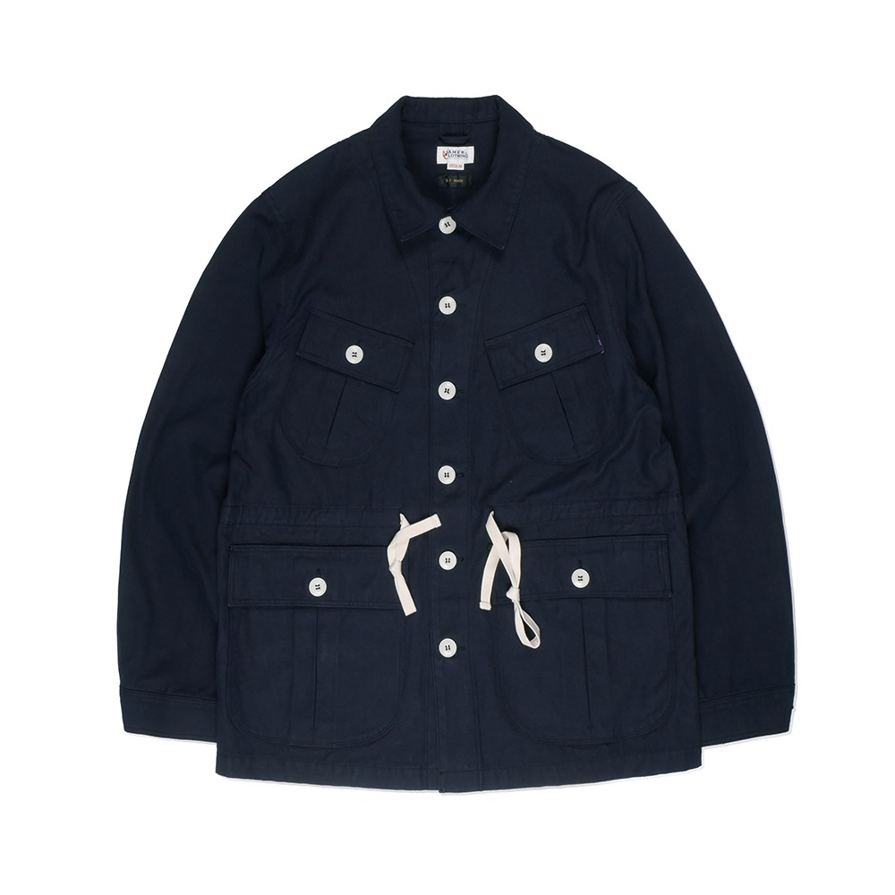 NAMER CLOTHINGBack Satin Jungle Fatigue Jacket(Navy)