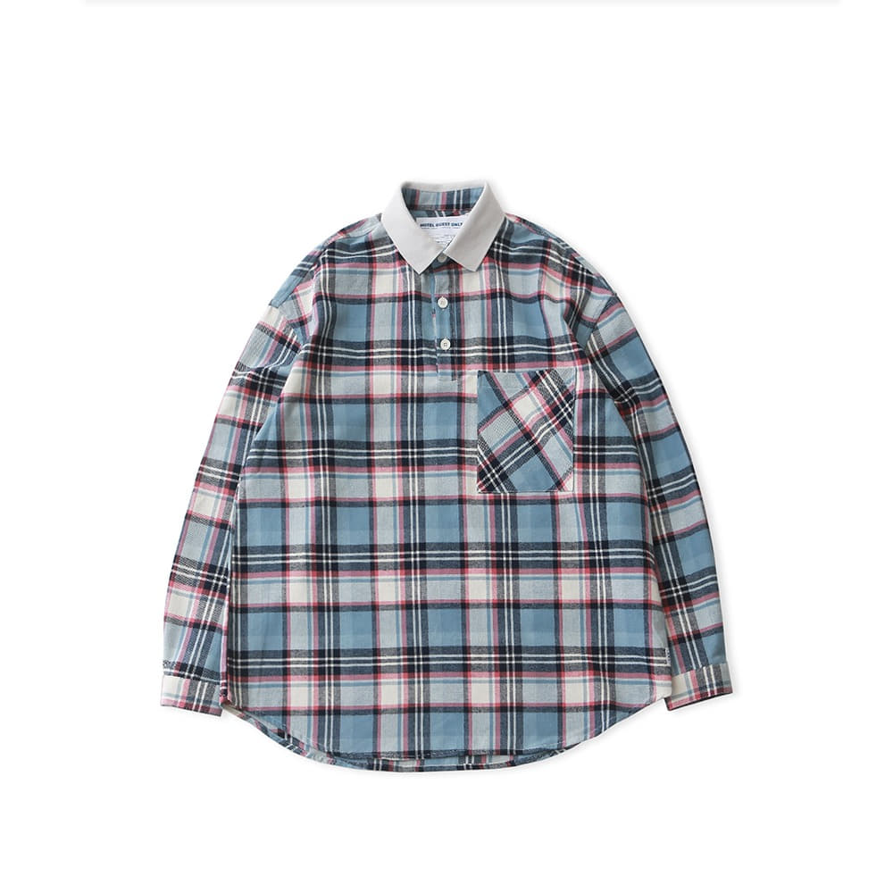 DAILY INNLobby Boy Pique Flannel Oversized Shirt(Romeo Check)