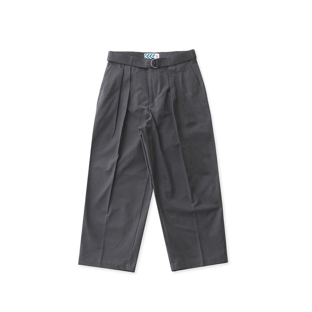 DAILY INNConcierge Belted Wide Pants(Ash)