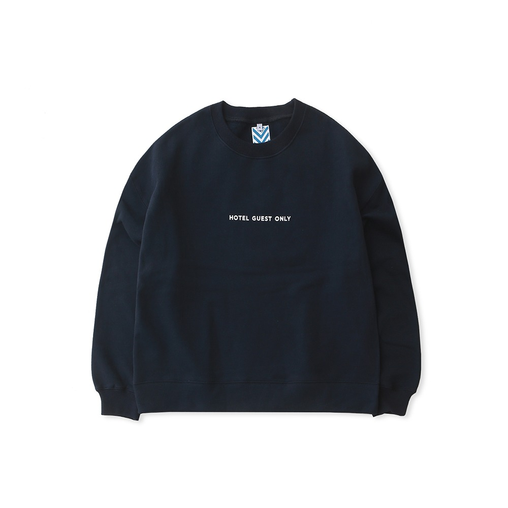 DAILY INNHotel Guest Only Heavy Weight Oversized Sweat(Navy)