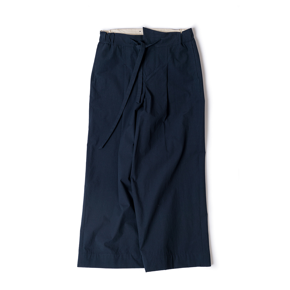POLYTERUBelted Wide Pants(Navy)
