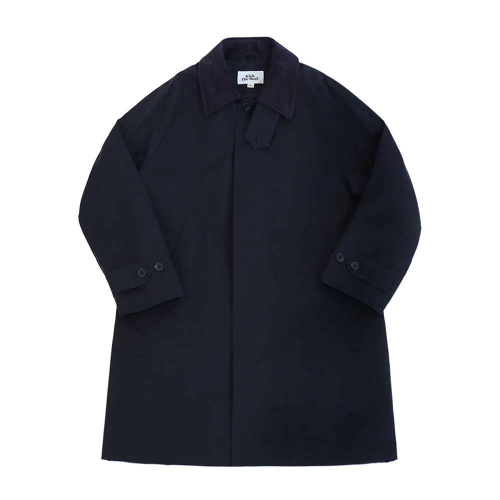 KICK THE BEATUnisex Mac Coat(Navy)