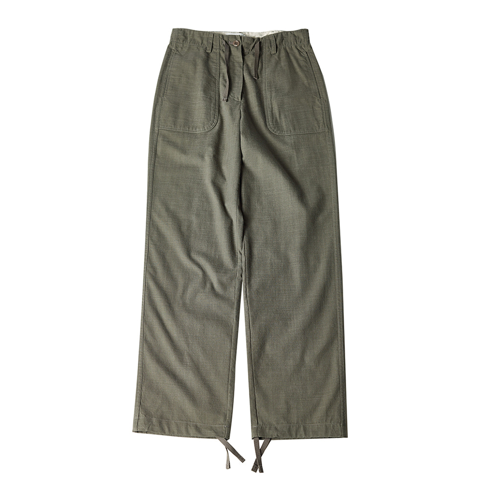 TOELinen String Slacks Pants(Khaki)