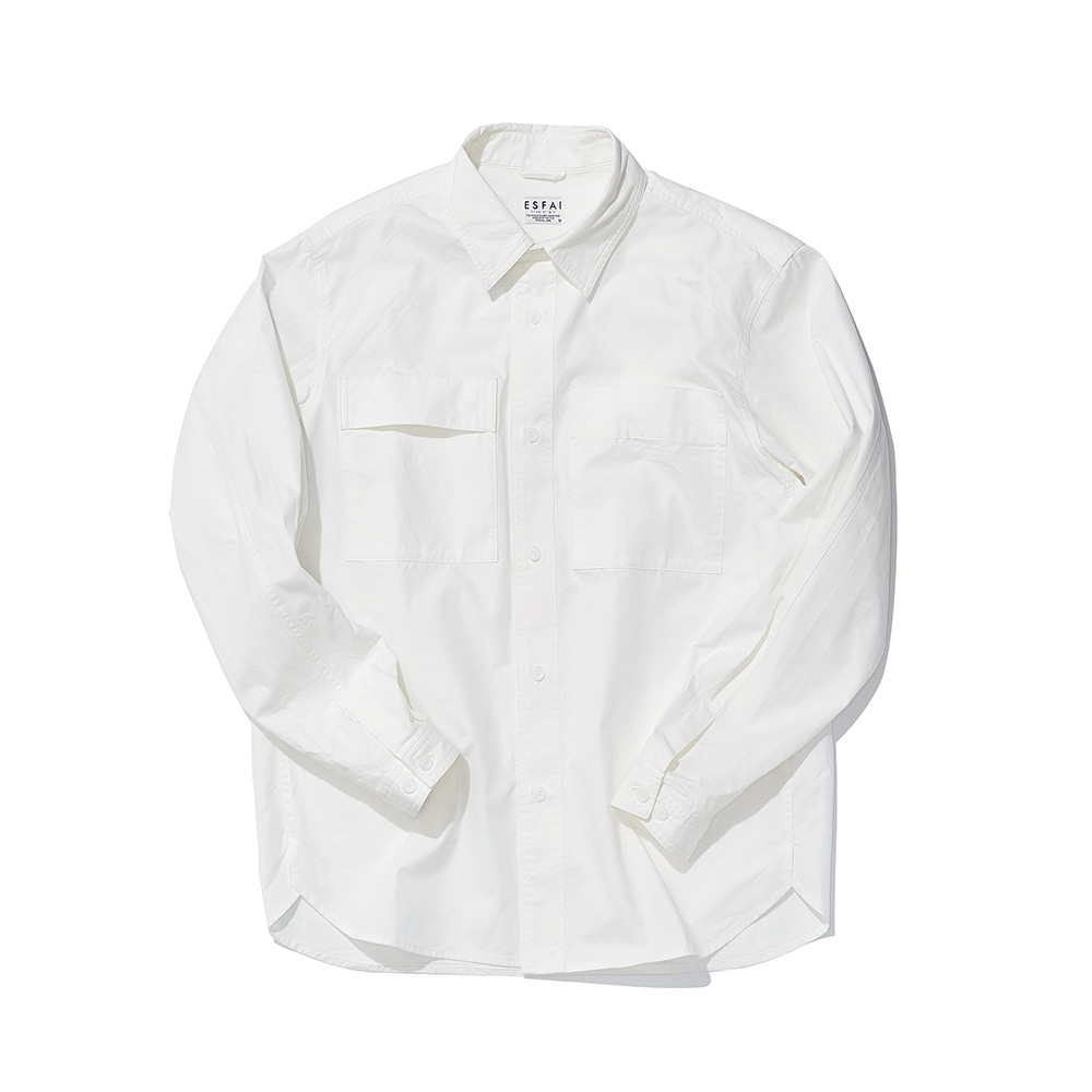 ESFAITwo Sided Pocket Shirt(White)
