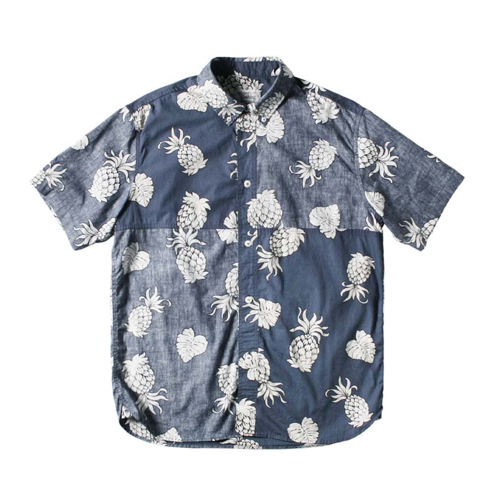 NAMER CLOTHINGReversed Pineapple Shirts(Navy)30% Off