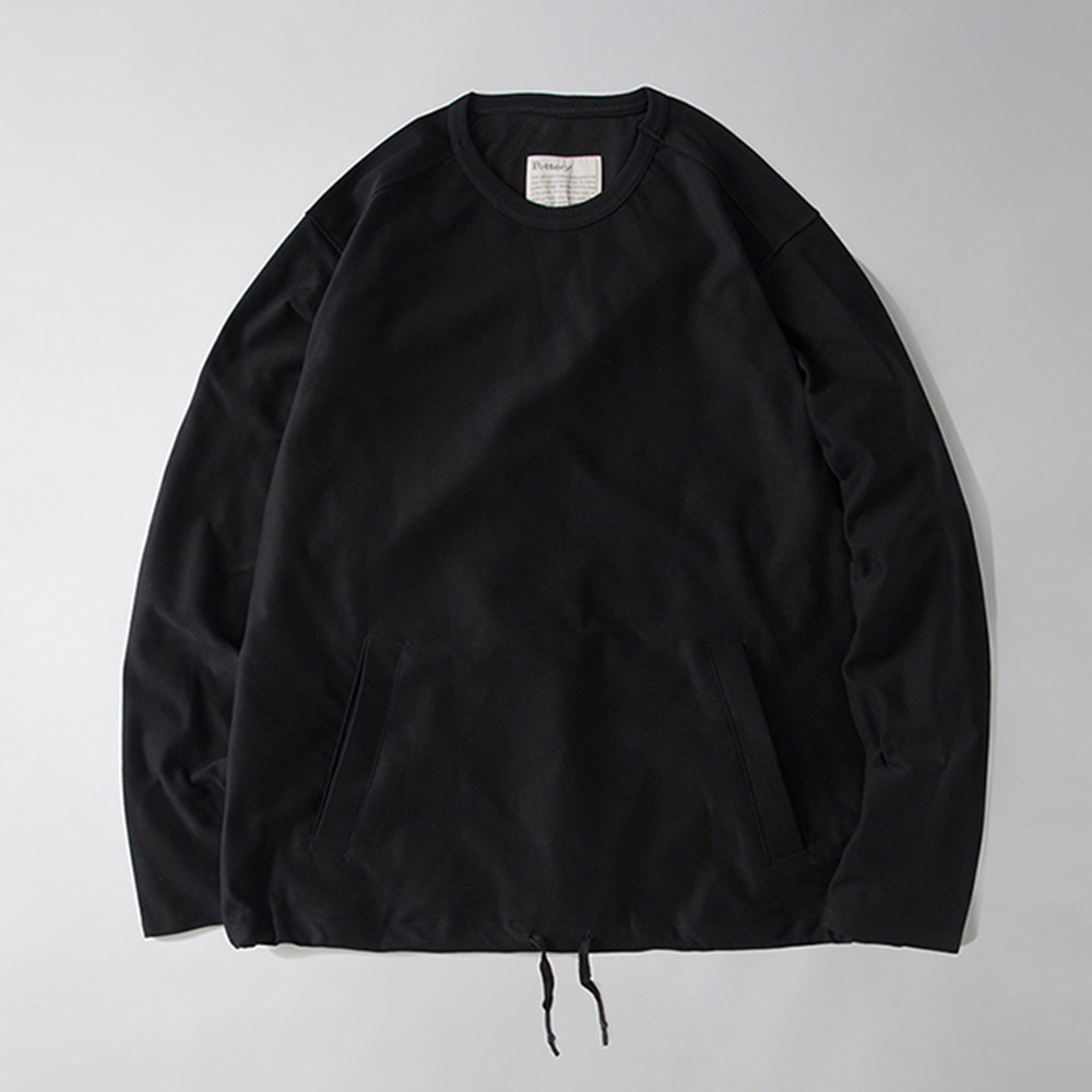 POTTERYKnit Sweat Shirt(Black)