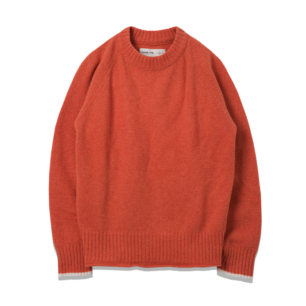 ROUGH SIDEFisherman Knit(Orange)