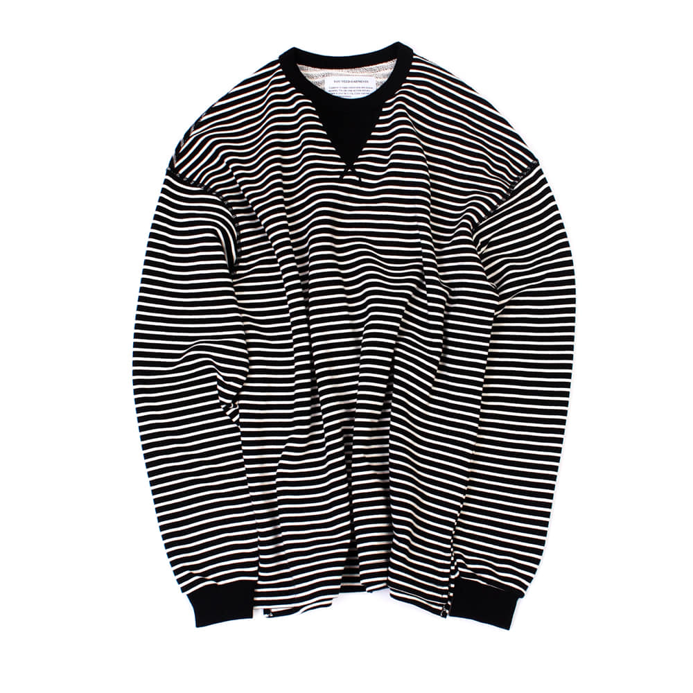 YOU NEED GARMENTSFlat Seam Stripe Shirts(Black)
