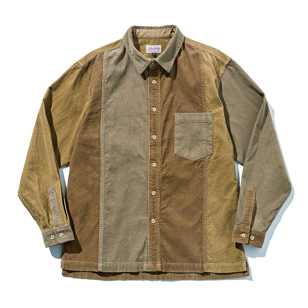 DEUTERODTR19121 3Tone Corduroy Mixed Shirts Jacket(Beige)