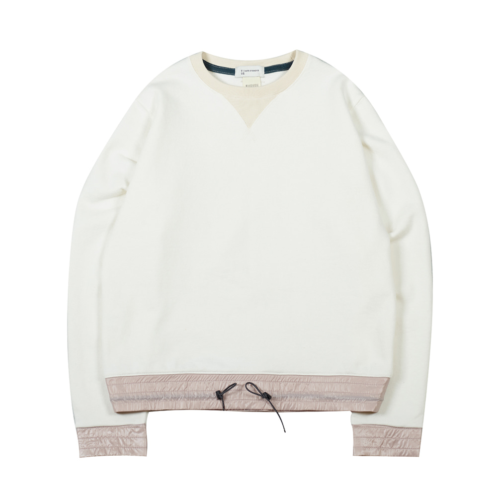 TOEColor Block Sweat Shirt(Ivory)