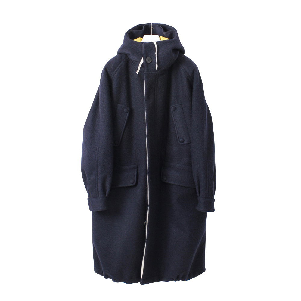 DOCUMENTThe Document Wool Parka(Navy/Yellow)