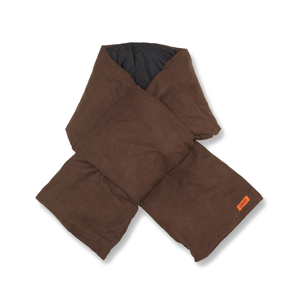 UNIVERSAL OVERALLSuede Down Padding Scarf(Brown)30% Off