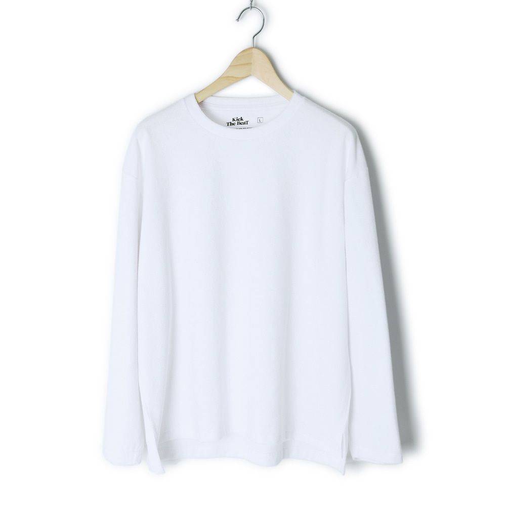 KICK THE BEATTerry Long Sleeve(White)