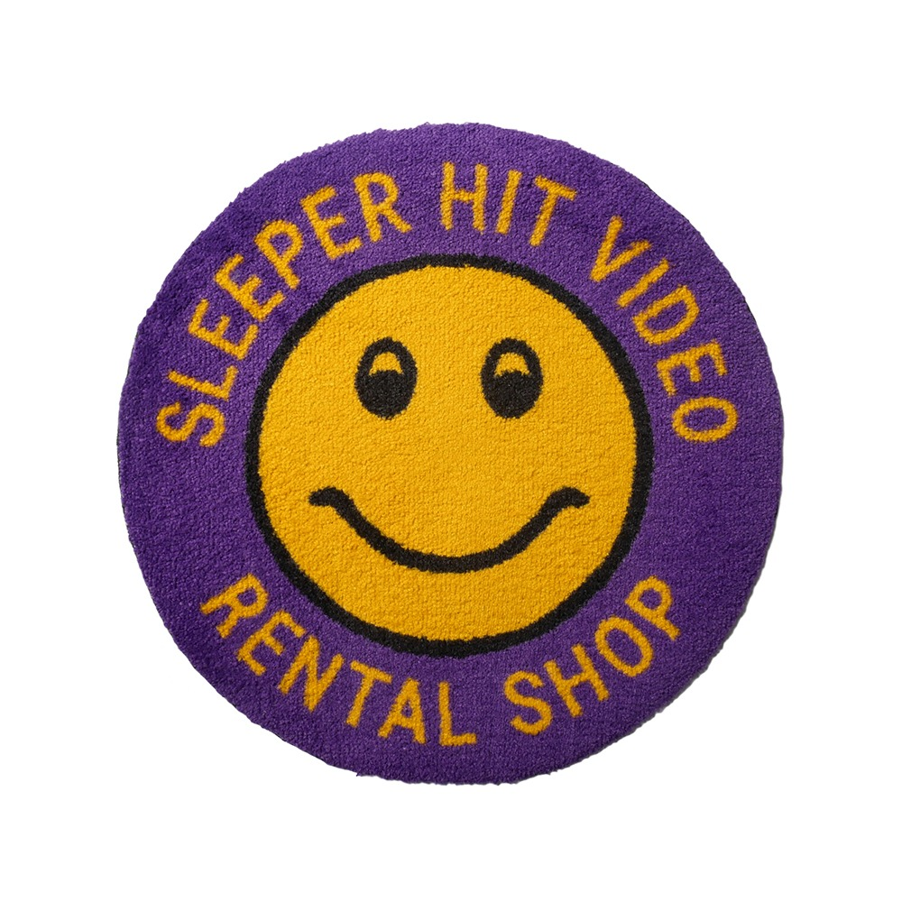 SLEEPER HIT VIDEO for MSK SHOPS.H.V. Smiley Rug(Purple)