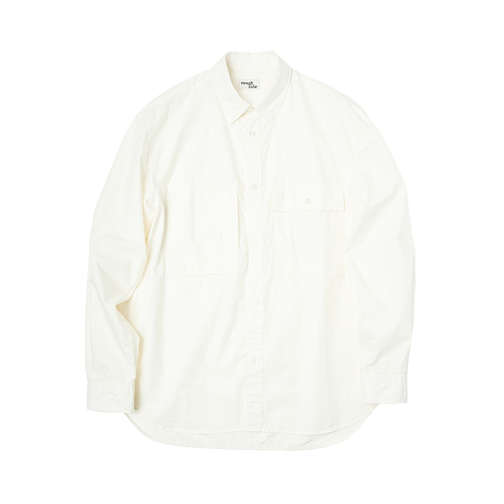 ROUGH SIDE110.Officer Shirt(Off White)