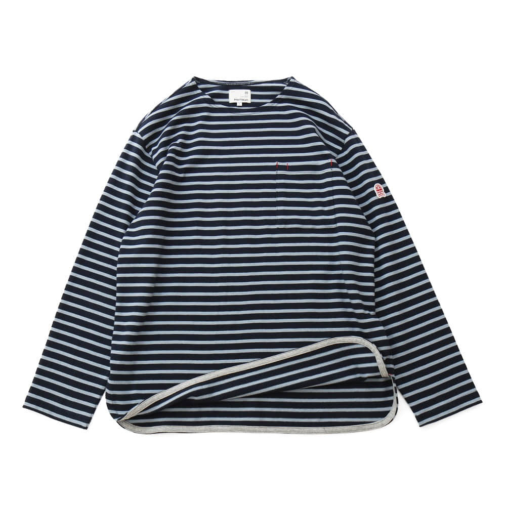 HORLISUNUnisex Union Pocket Stripe Seasonal T(Navy/Blue)
