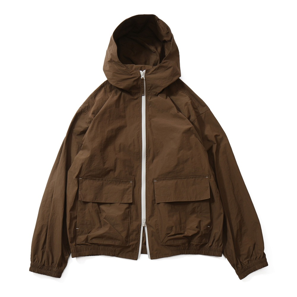 HORLISUNBreeze Nylon Hood Zip Up Jacket(Brown)