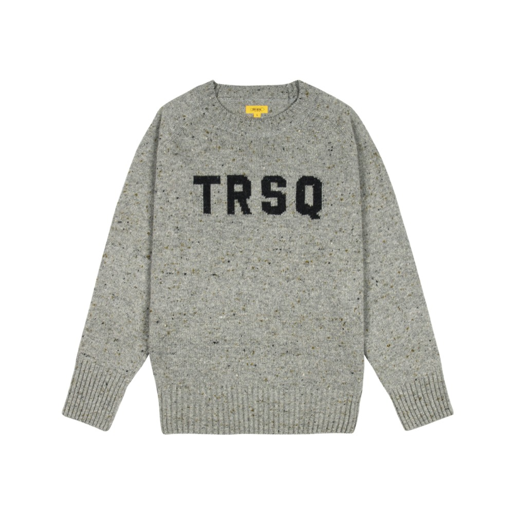 THE RESQ & COLogo Jacquard Sweater(Grey)