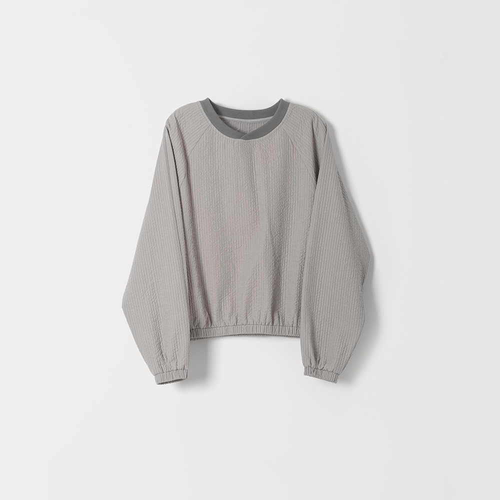 DONA DONAEasy Quilted Pullover(Grey)