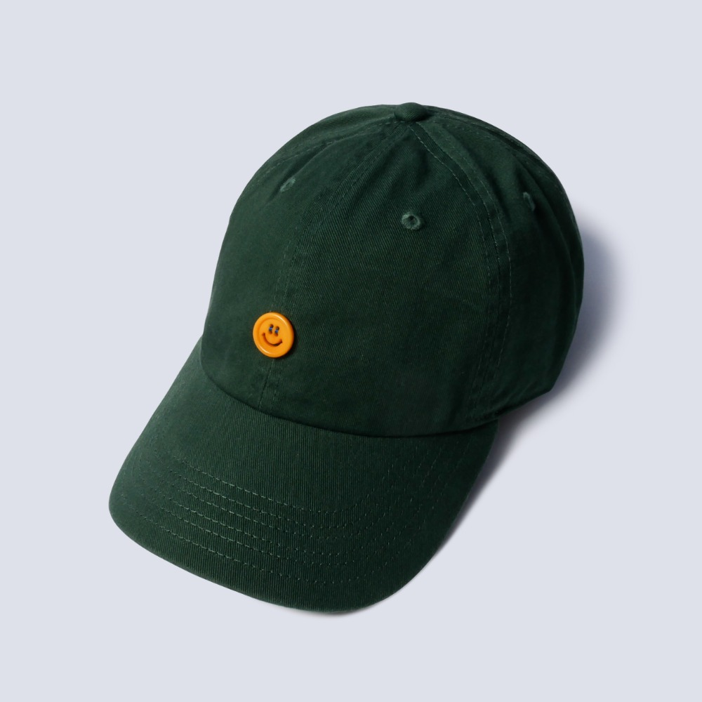 NAMER CLOTHING*RESTOCK*Smile Button Cotton Cap(Green)
