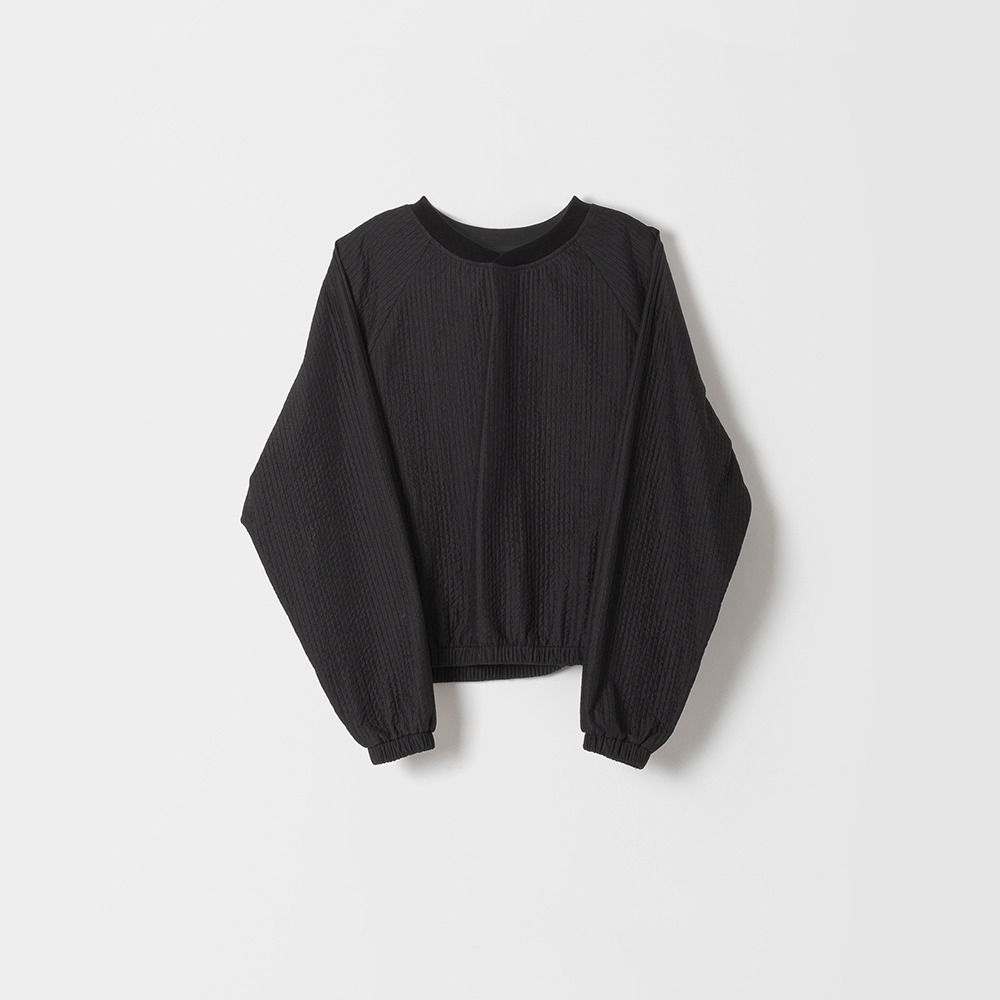 DONA DONAEasy Quilted Pullover(Black)