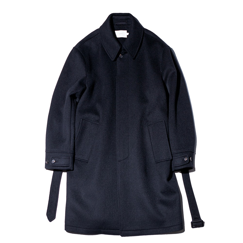 OUR SELVESSoft Wool Belted Mac Coat(Real Black)
