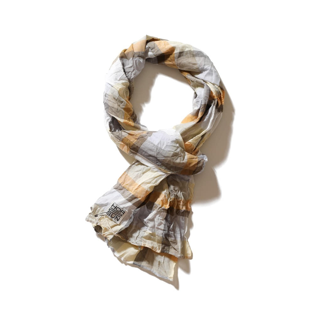 HORLISUNKeele Multi Check Scarf (Yellow)
