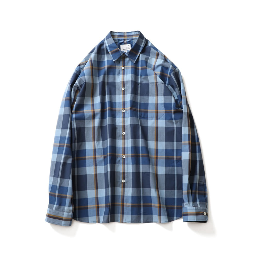 HORLISUNMaili Multi Check Shirts(Blue Layer)