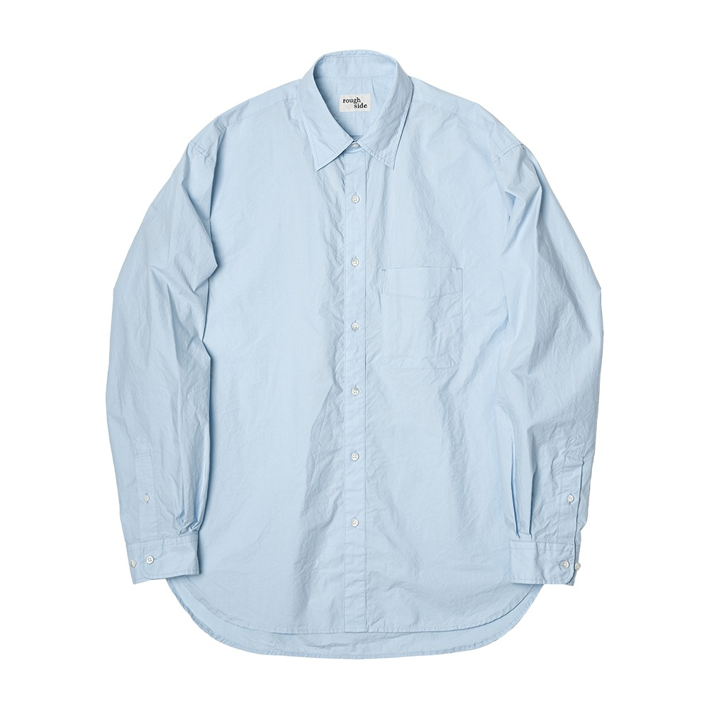 ROUGH SIDEShirring Shirt (Light Sky)