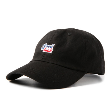 GOOD NIGHT & GOOD LUCK2 Colors Logo Cap(Black)