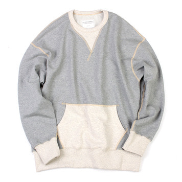YOU NEED GARMENTSVintage Pocket Sweatshirt(Grey)