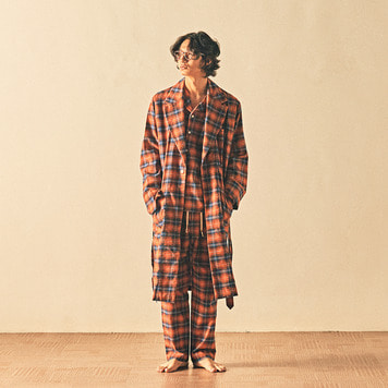 MONOPISPAMontechristo Robe Coat (Flannel Pumkin Plaid)