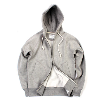 YOU NEED GARMENTSZip Sweat Hooded Parka(Grey)