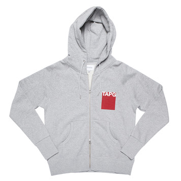 TWOBUILDERSHOUSETAPG Zip Up Hoodie(Grey)