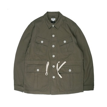 NAMER CLOTHINGBack Satin Jungle Fatigue Jacket(Olive)