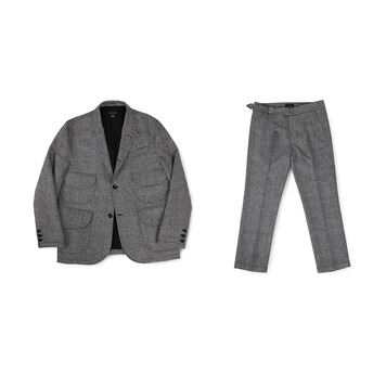 BALLUTEMagazine Set Up (Grey Wool)20% Off  w 396,000