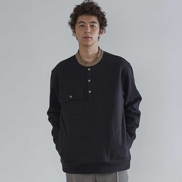 HORLISUNForest Collar Heavy Cotton Pullover(Black)