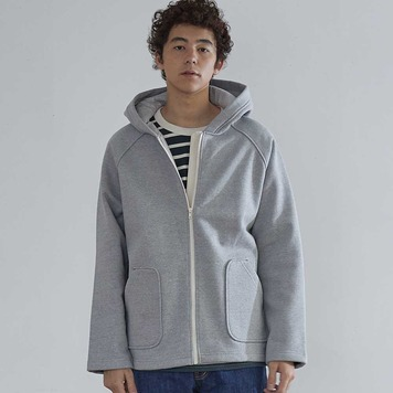 HORLISUNWillow Zip Up Heavy Cotton Jacket(Grey)