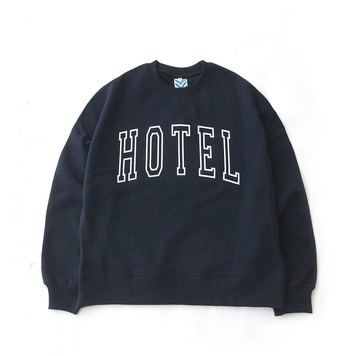 DAILY INNHotel Big Logo Heavy Weight Oversized Sweat(Navy)