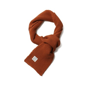 HORLISUNSkiff Knit Muffler(Orange)