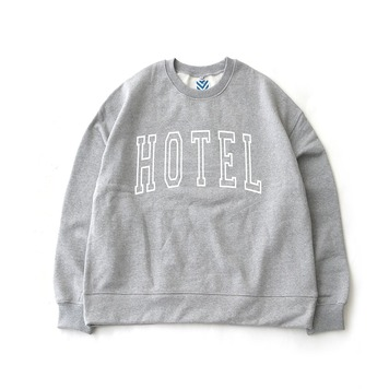 DAILY INNHotel Big Logo Heavy Weight Oversized Sweat(Melange Grey)