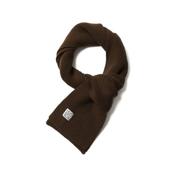HORLISUNSkiff Knit Muffler(Dark Brown)