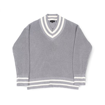 BALLUTEV Neck Cricket Knit(Grey)