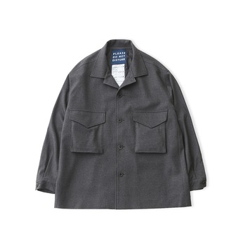 DAILY INNLobby Boy Oversized Set Up Jacket(Grey Wool)