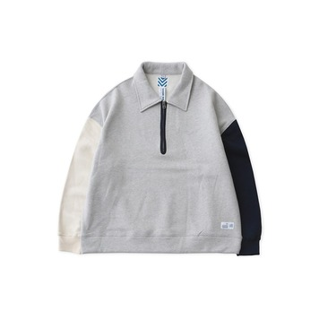 DAILY INNRemixed 3 Colors Heavy Weight Half Zip-Up Sweat