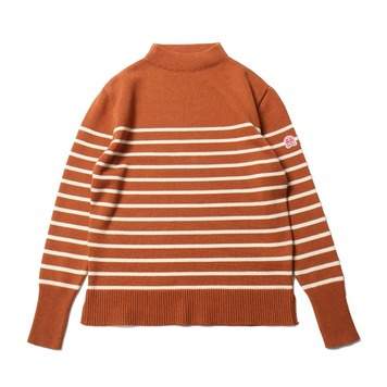 HORLISUNTedburn Mock Neck Stripe Knit(Orange)