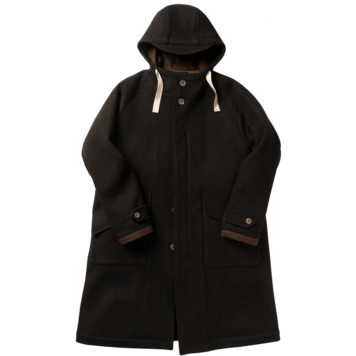 ROUGH SIDEDetachable Hoodie Coat(Brown)30% Off